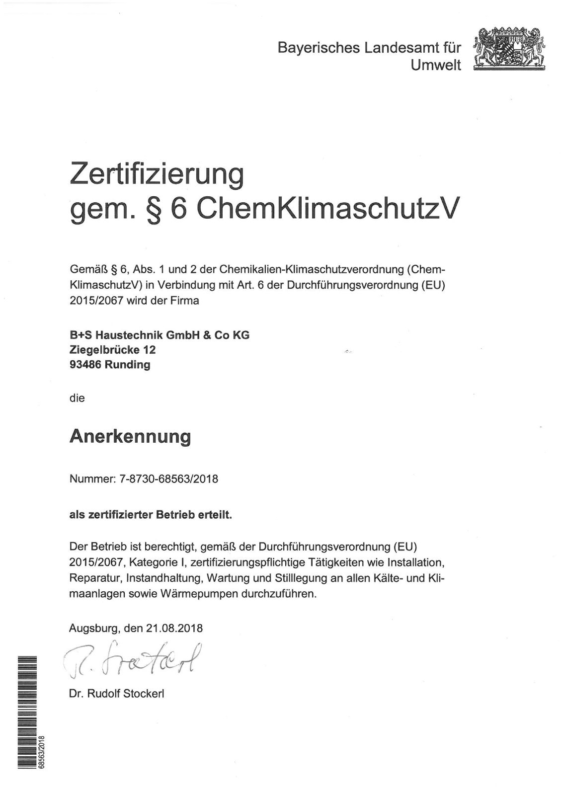 LfU-Zertifikat ChemKlimaschutzV-1